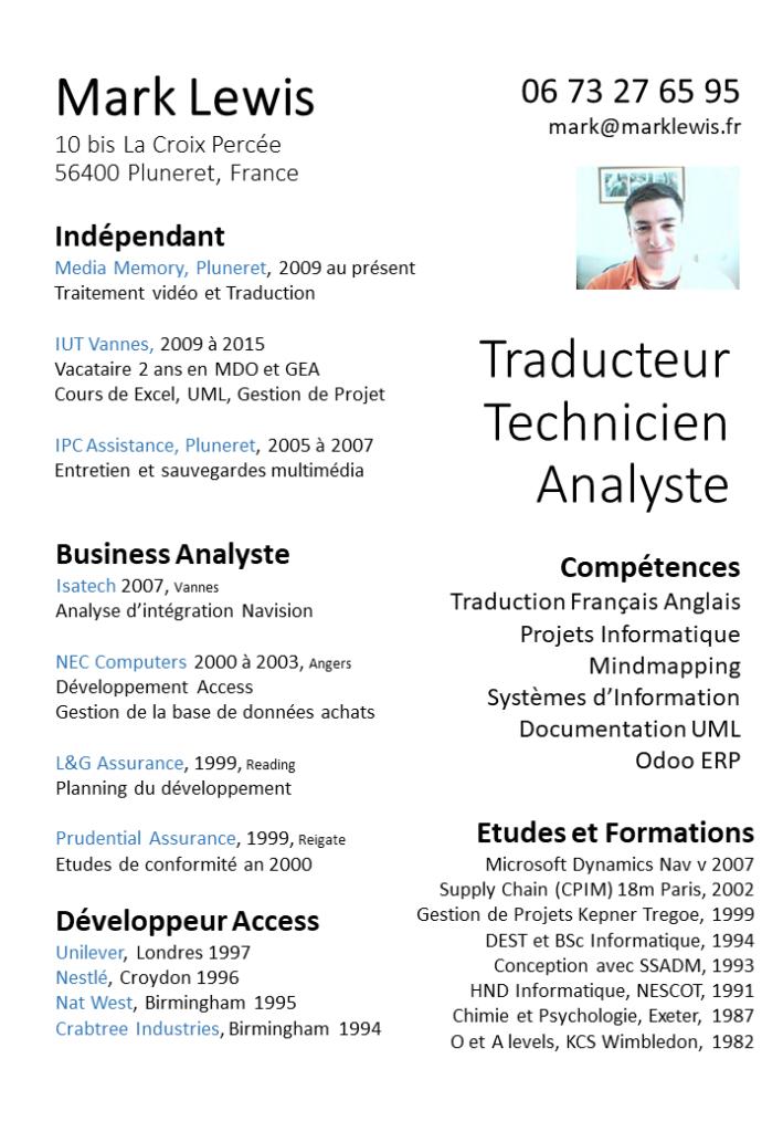 CV de Mark Lewis